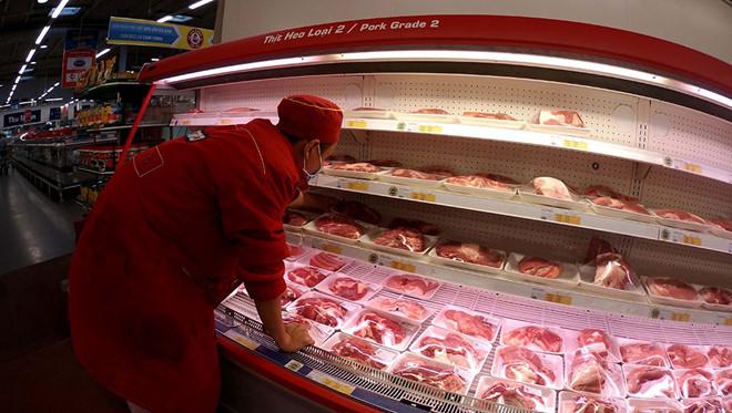 Thịt heo nhập về Việt Nam giá bình quân chỉ 26.000 đồng/kg.