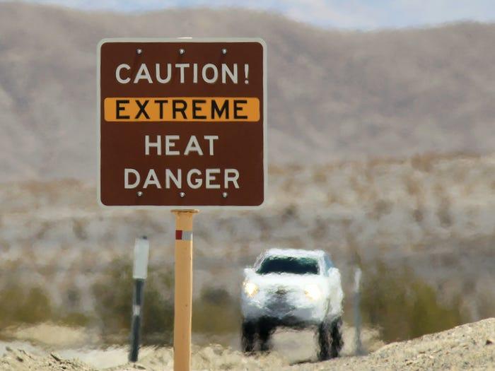 Thung lũng chết nằm ở phía bắc sa mạc Mojave. (Ảnh:)