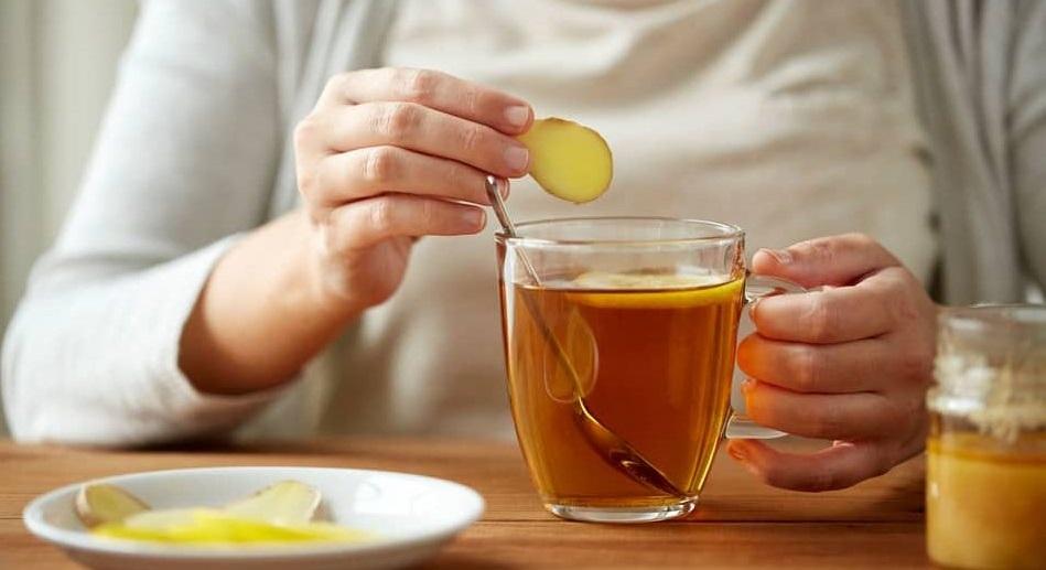 Khởi động ngày mới với một tách trà gừng giúp giảm cân hiệu quả