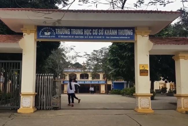 Trường THCS Khánh Thượng. (Ảnh qua giapducthoidai)