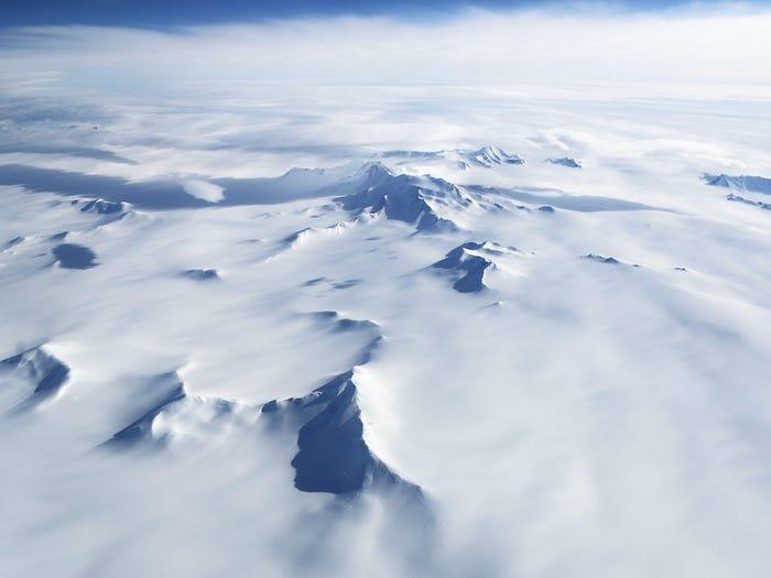 Phần lục địa chiếm diện tích chủ yếu tại Đông châu Nam Cực. (Ảnh:)