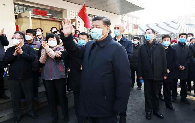 Ngày 10/2, ông Tập Cận Bình đến khu An Hoa Lý, quận Triều Dương, thành phố Bắc Kinh để kiểm tra và chỉ đạo các hoạt động phòng chống COVID-19