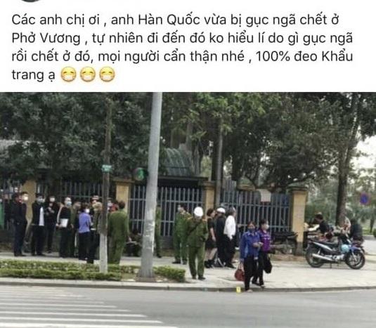 Bắc Ninh Người Hàn Quốc tử vong bên vệ đường là do bệnh đái tháo đường, không phải do nhiễm Covid-19 2