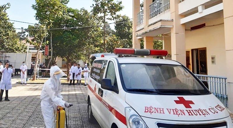 Bệnh viện dã chiến Củ Chi, nơi cách ly những bệnh nhân nghi nhiễm Covid-19.