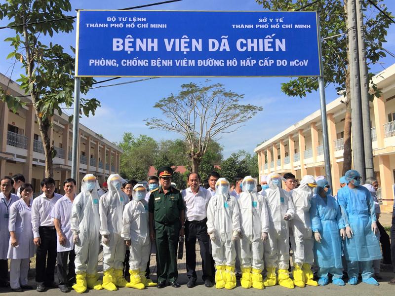 Bệnh viện dã chiến đầu tiên ở TPHCM chính thức mở cửa đón bệnh nhân. (Ảnh qua thanhnien)