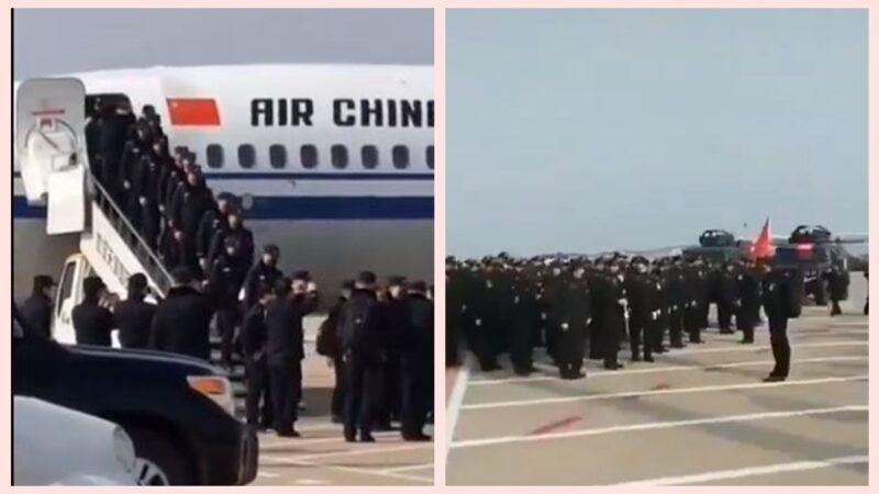 Cảnh sát Trùng Khánh được cử đến Vũ Hán hỗ trợ.