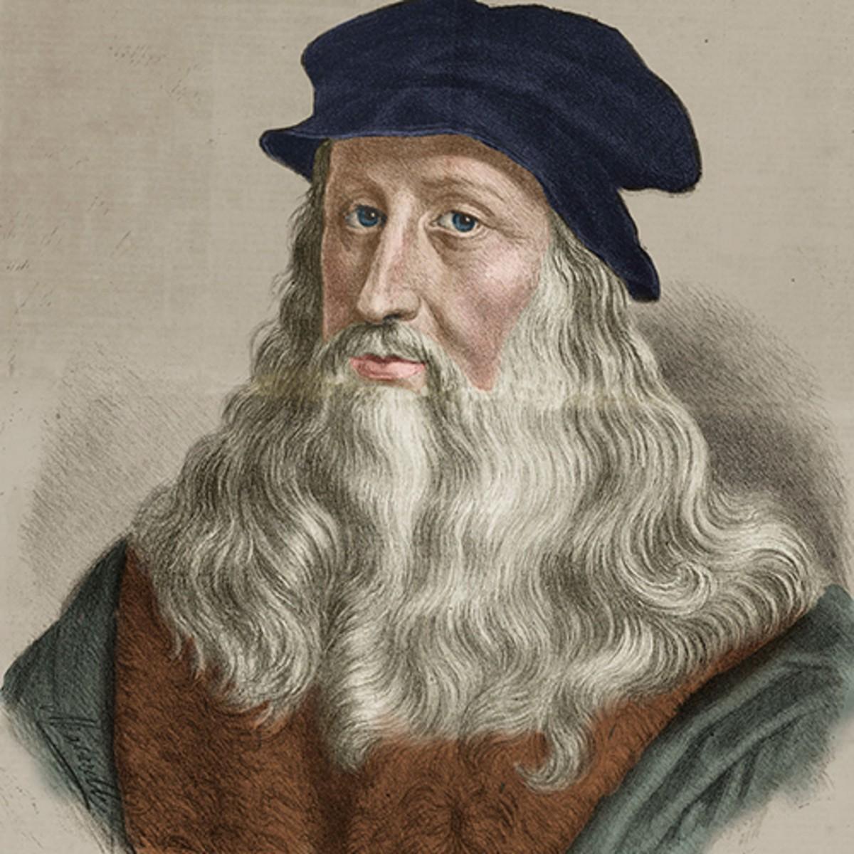 Chân dung Da Vinci qua tranh vẽ.