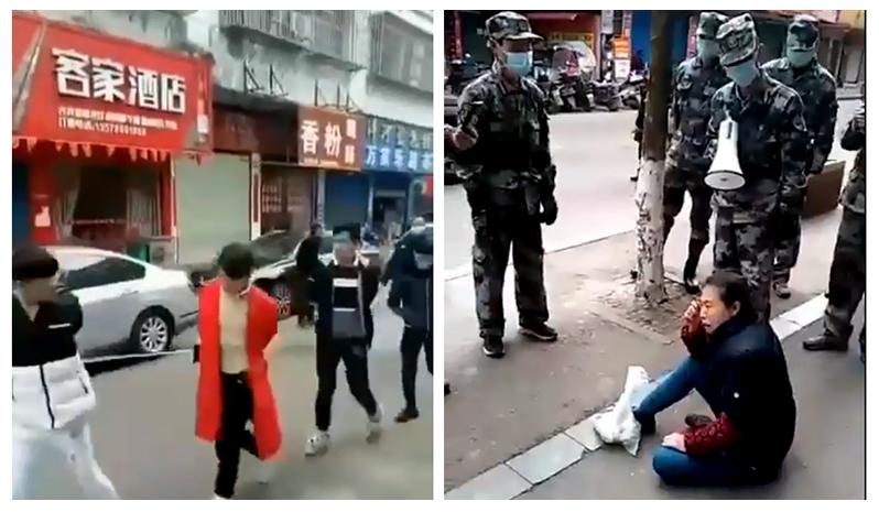 Video: Người không đeo khẩu trang bị trói và bắt đi diễu phố ở TQ (ảnh 1)