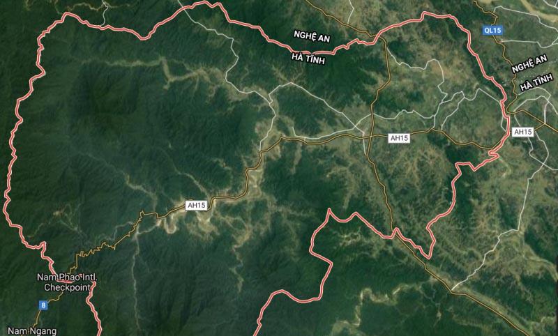 Vùng tâm chấn xảy ra động đất tại huyện Hương Sơn (Hà Tĩnh). (Ảnh qua giadinh)
