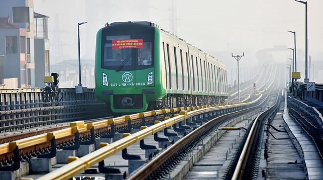 Dự án đường sắt đô thị Hà Nội, tuyến Cát Linh - Hà Đông vẫn chưa thể vận hành. (Ảnh qua thanhnien)