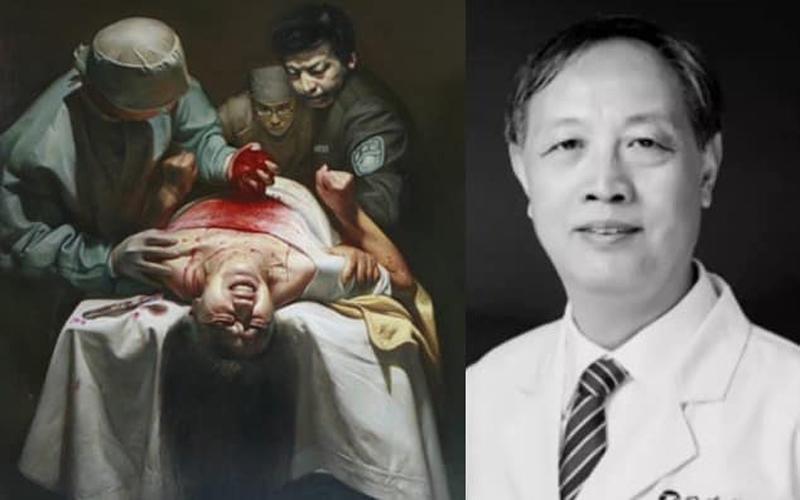 Ông Lâm Chính Bân (phải) có tên trong danh sách nghi phạm tham gia mổ cướp nội tạng tại Trung Quốc.