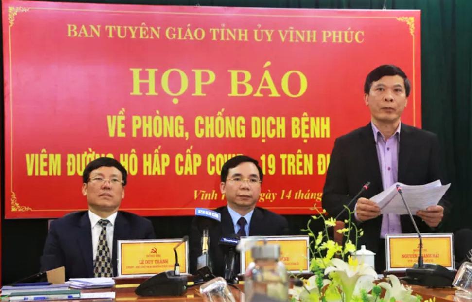 Nguyễn Thanh Hải, Giám đốc Sở Y tế tỉnh Vĩnh Phúc