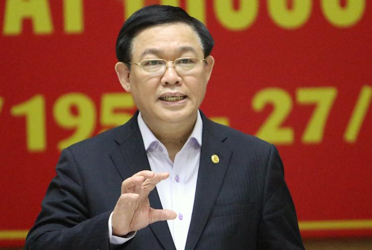 Bí thư Thành uỷ Hà Nội Vương Đình Huệ. (Ảnh qua vnexpress)