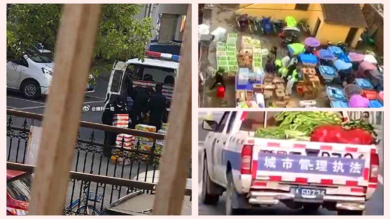 Hồ Bắc: Quan chức chia nhau rau quả quyên tặng, người dân muốn mua cũng không được (ảnh 1)