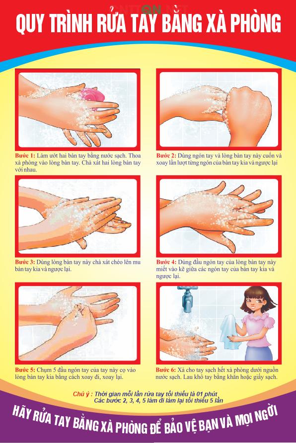 Rửa tay đúng bằng xà phòng là biện pháp hữu hiệu phòng ngừa virus gây bệnh.