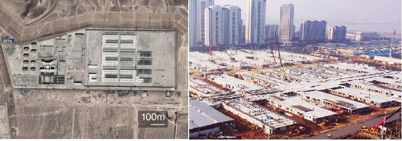 Trại tập trung Tân Cương được tiết lộ trong tài liệu điều tra. Và bệnh viện dã chiến Lôi Thần Sơn, với các phòng cho bệnh nhân được xây dựng như những container biệt giam.