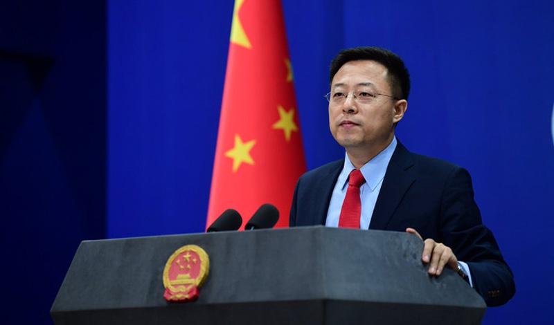 Ông Triệu Lập Kiên, người phát ngôn Bộ Ngoại giao Trung Quốc.
