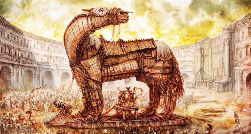 Con ngựa gỗ trong huyền thoại thành Troy