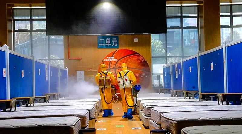 Nghi ngờ Vũ Hán xây bệnh viện cabin lớn hơn, lưới điện vây quanh không thể trốn chạy (ảnh 1)