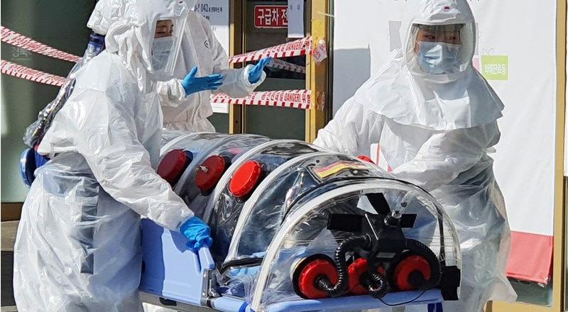 Truyền thông Hàn Quốc cho biết, đến sáng ngày 6/3, nước này đã có 6.284 ca nhiễm Covid-19 sau khi ghi nhận thêm 518 ca nhiễm mới, 42 ca đã tử vong. (Ảnh qua cna)