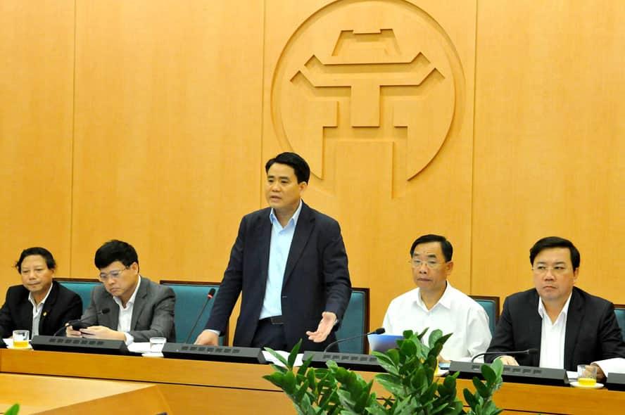 Chủ tịch UBND thành phố Nguyễn Đức Chung. (Ảnh qua hanoimoi)