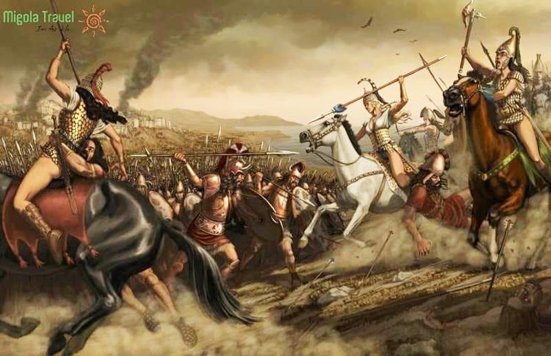 Trong cuộc chiến thành Troy, không chỉ là người đánh người, mà các chiến binh bán Thần cũng đánh nhau, giữa các vị Thần cũng có giao tranh.