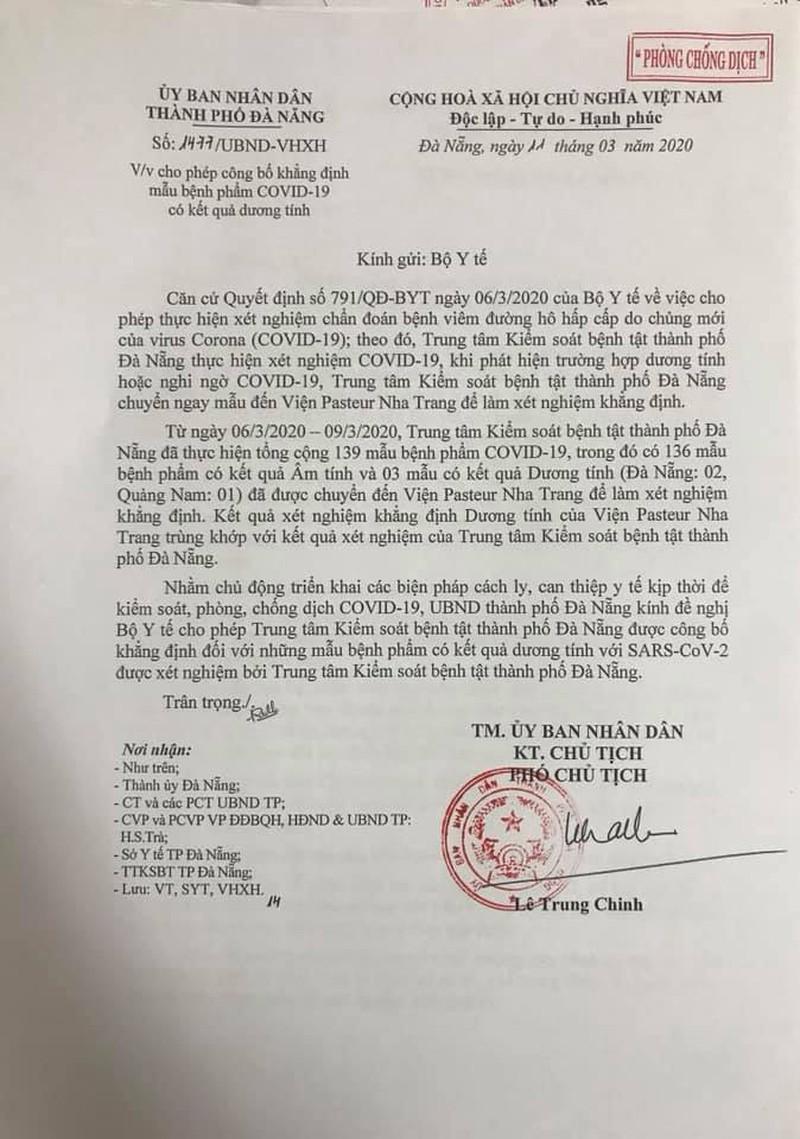 Đà Nẵng đề nghị Bộ Y tế cho phép công bố các ca dương tính với Covid-19 2