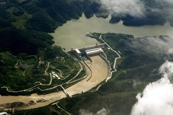 Đập Cảnh Hồng ở tỉnh Vân Nam, Trung Quốc. (Ảnh qua tuoitre)