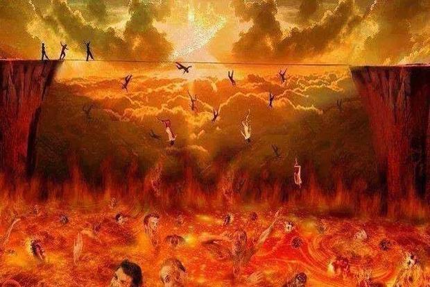 Các linh hồn lao nhanh xuống địa ngục như những hạt cát ném xuống khỏi lòng bàn tay.