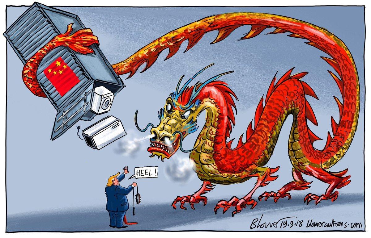 Trung Quốc đương đại được ví như một con rồng đỏ giương nanh múa vuốt với tham vọng khống chế toàn thế giới. (Ảnh: Ingram Pinn/Financial Times)