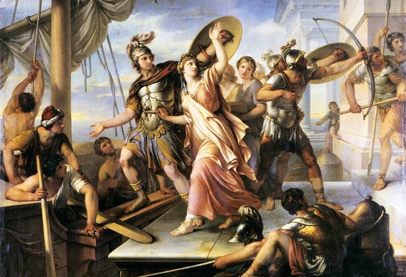 Helen đã từ bỏ Menelaus để trốn theo Paris