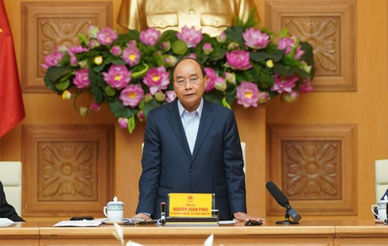 Cuộc họp của Thường trực Chính phủ về chống dịch Covid-19 diễn ra chiều 5/3. (Ảnh qua vietnamnet)