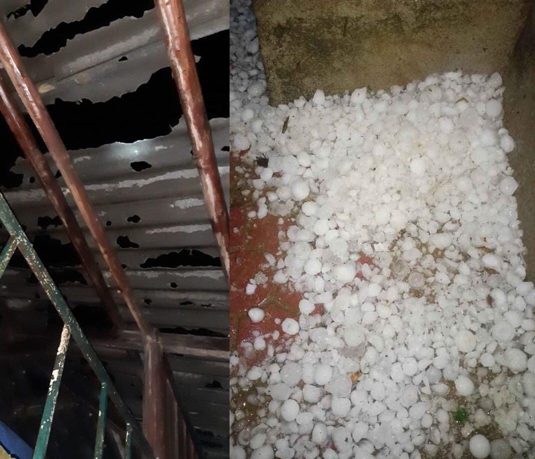 Ít nhất 4 trận mưa đá đã xảy ra trong tháng 3 tại các tỉnh phía Bắc 3