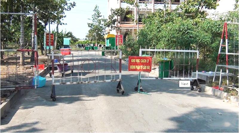 Khu cách ly tập trung tại Trường quân sự tỉnh Tiền Giang - nơi xảy ra vụ việc. (Ảnh qua tuoitre)