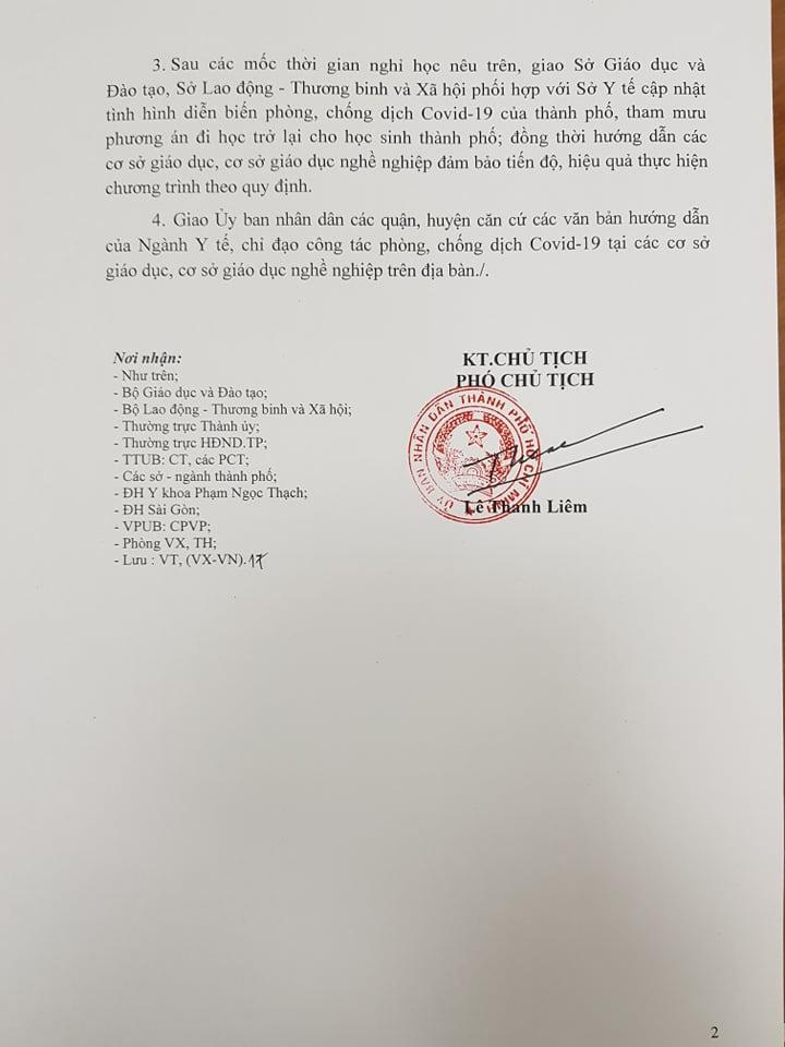 Lãnh đạo ĐHQG TP.HCM và UBND thành phố đề nghị cho học sinh nghỉ hết tháng 3 ảnh 3