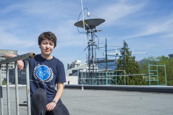 Cô Michelle Kunimoto, nghiên cứu sinh thiên văn học thuộc Đại học British Columbia (Ảnh: Michelle Kunimoto)