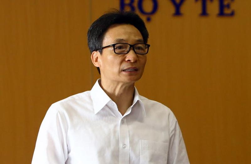 Phó thủ tướng Vũ Đức Đam phát biểu tại cuộc họp Ban chỉ đạo quốc gia chống viêm phổi Vũ Hán vào sáng 27/3. (Ảnh qua vnexpress)