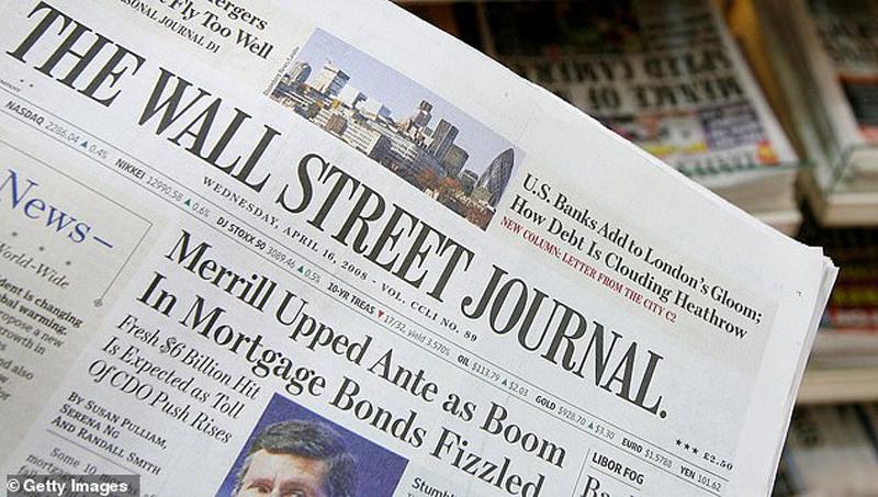 3 nhà báo của Wall Street Journal bị Trung Quốc thu hồi thẻ nhà báo.