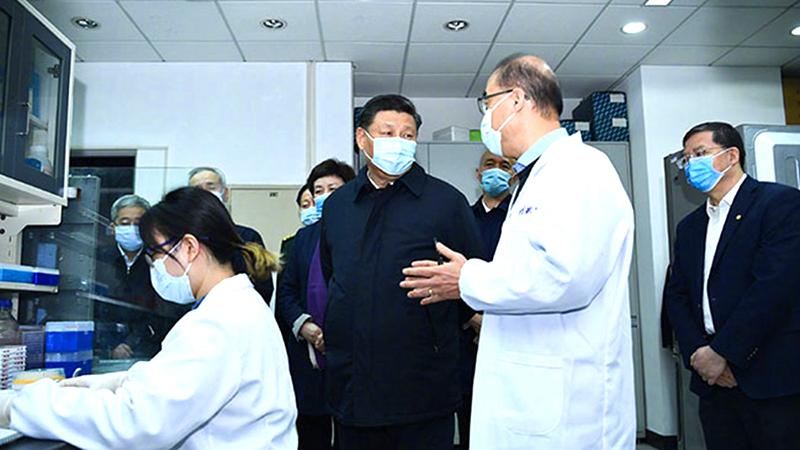 Tập Cận Bình đeo khẩu trang đến Bắc Kinh thị sát lần 2, tiết lộ nguyên nhân Tập từ chối đến Vũ Hán (ảnh 1)