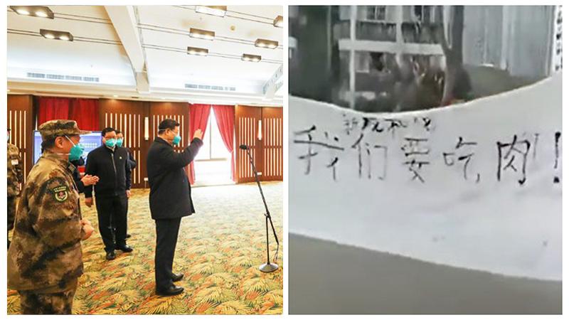 """Tập Cận Bình đến thăm Vũ Hán, người dân giương biểu ngữ """"muốn ăn thịt"""" (ảnh 1)"""