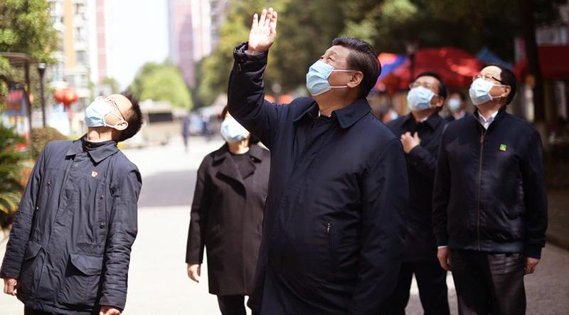 Ngày 10/3, Tập Cận Bình lần đầu tiên đến 'tâm dịch' Vũ Hán để thị sát.