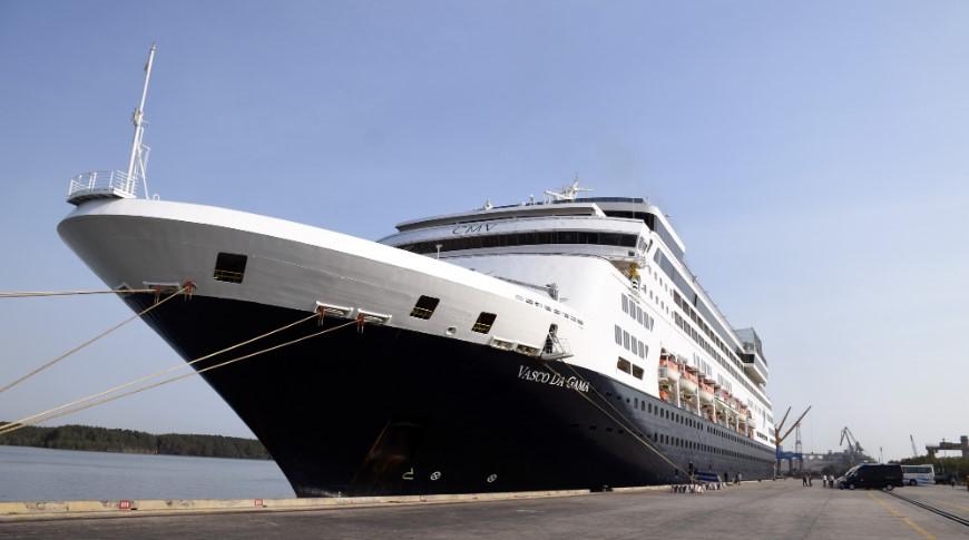 Tàu Vasco da Gama cập cảng Phú Mỹ sáng 1/3. (Ảnh qua tuoitre)