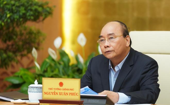 Thủ tướng Nguyễn Xuân Phúc phát biểu tại cuộc họp. (Ảnh quan thanhnien)
