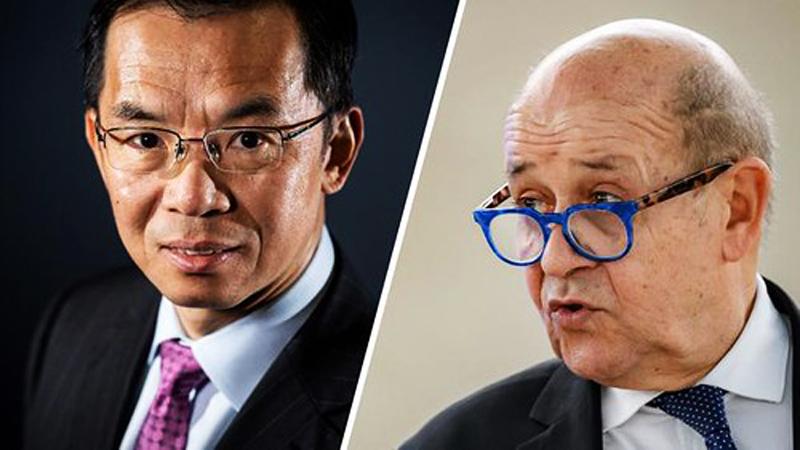 Đại sứ Trung Quốc tại Pháp, ông Lư Sa Dã, bị Bộ Ngoại giao Pháp triệu lên để phản đối vì một số hoạt động tuyên truyền công kích phương Tây