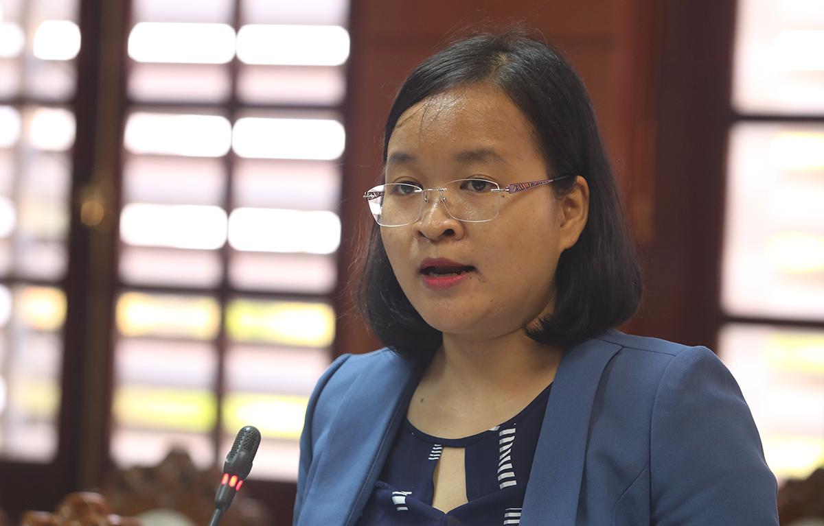 Lê Thị Tuyến, Giám đốc công ty cổ phần thương mại đầu tư Giải pháp Việt. (Ảnh qua vnexpress)