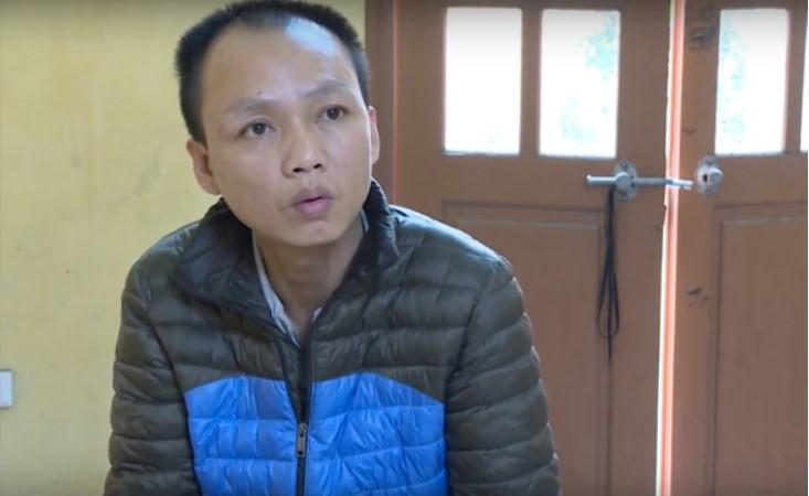 Thái Xuân Hưng tại cơ quan công an. (Ảnh qua tuoitre)