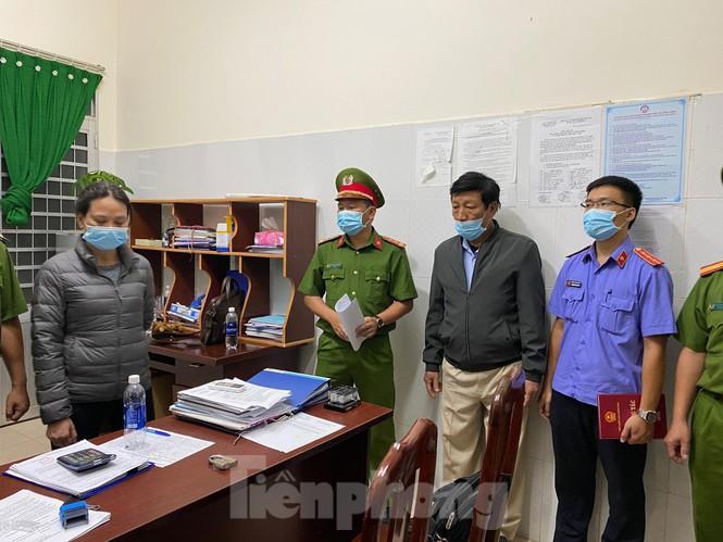 Lê Thị Thanh Bình trong vụ án đấu thầu sai 7 mặt hằng thuốc chữa bệnh. (Ảnh qua tienphong)