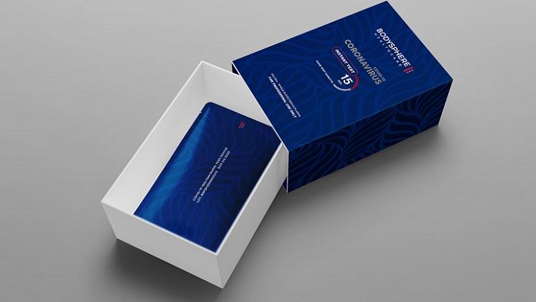 Bộ xét nghiệm nhanh virus Vũ Hán của công ty Bodysphere. (Ảnh qua bodyspere.com)