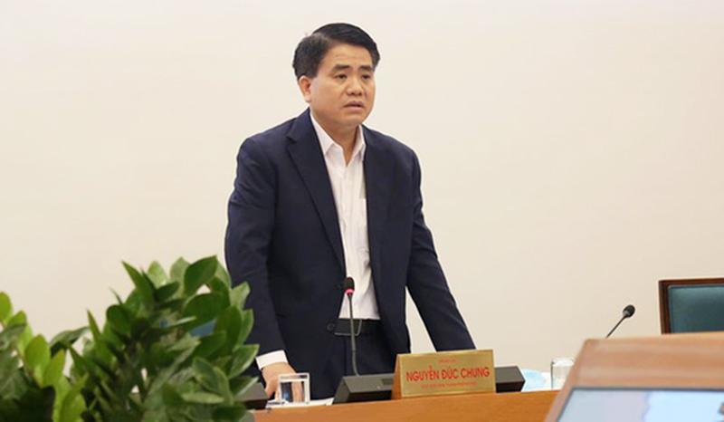 Chủ tịch thành phố Hà Nội Nguyễn Đức Chung nêu hai lỗ hổng lớn trong phòng, chống dịch Vũ Hán (Covid-19). (Ảnh qua tuoitre)
