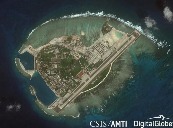 Đảo Phú Lâm thuộc quần đảo Hoàng Sa của Việt Nam bị Trung Quốc dùng vũ lực chiếm đóng và cải tạo bất hợp pháp. (Ảnh qua tuoitre)